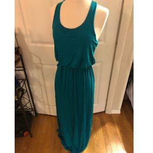 Teal/blue LUSH maxi dress with racer back